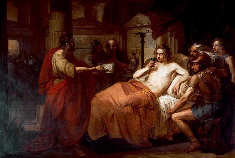 Alexander the Great and his physician Philip. Domenico Induno
