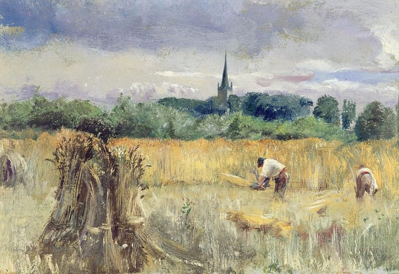 Сбор урожая в лугах Стратфорда-на-Эйвоне. Джон Уильям Инчболд