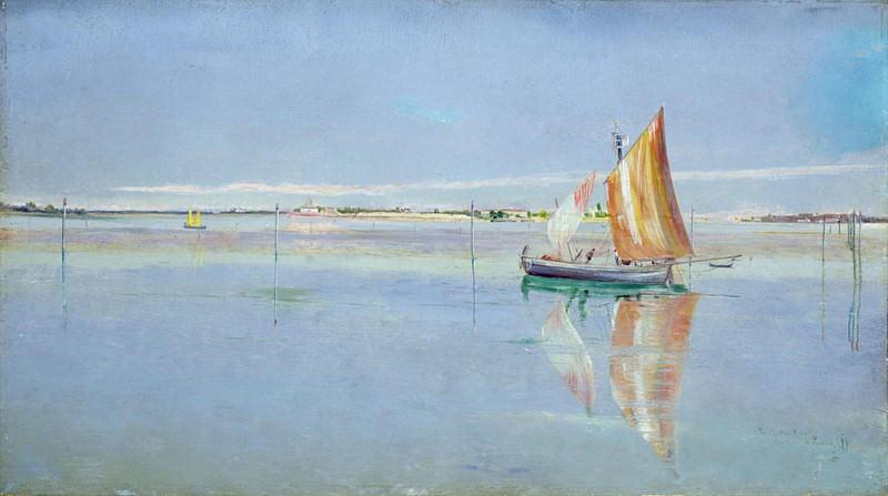 On the Lagoon Venice. John William Inchbold