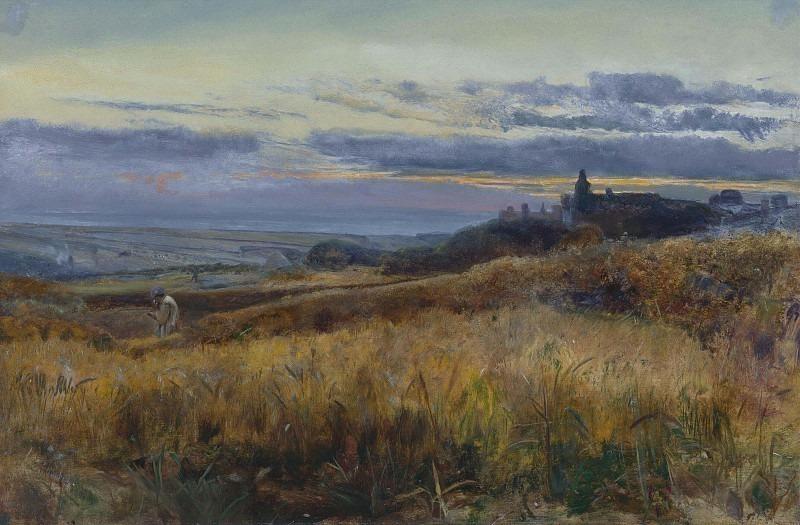 Cornfield at Sunset. John William Inchbold