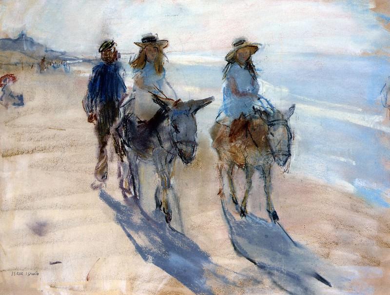 Riding the donkey. Isaac Israels