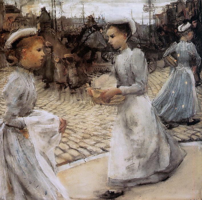 Girls of the Munt. Isaac Israels
