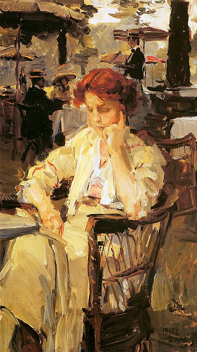 Girl in Hyde park. Isaac Israels