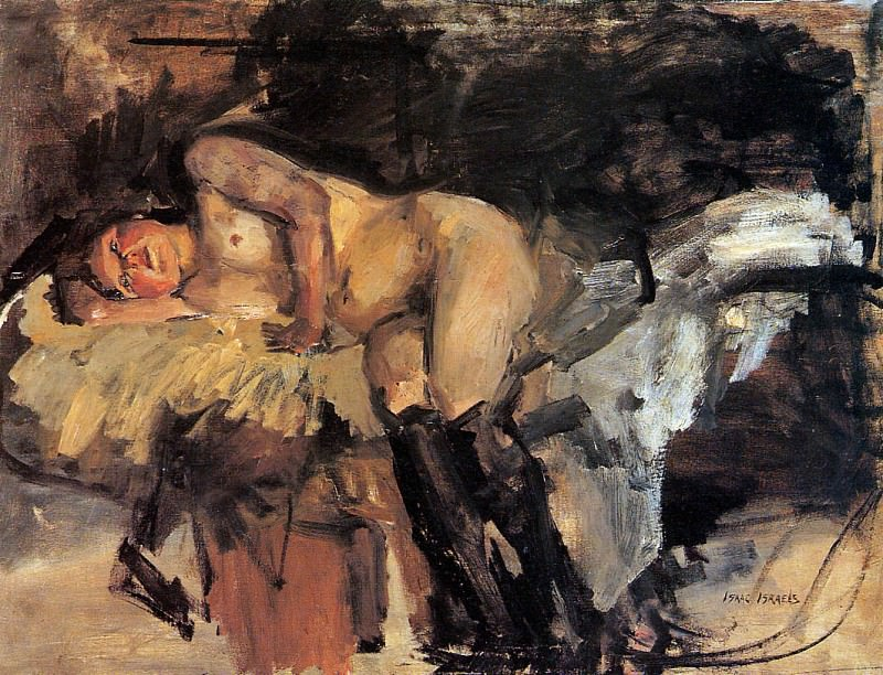Lying nude with stockings. Isaac Israels