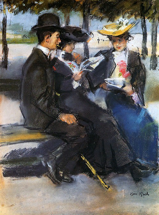 In the Bois de Boulogne. Isaac Israels