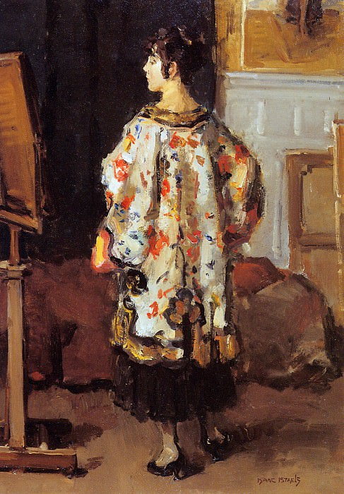 Model in kimono. Isaac Israels
