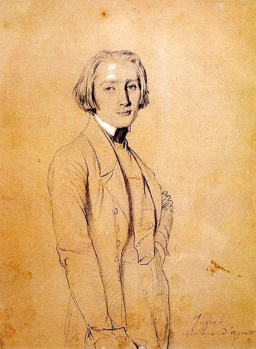 Ingres Franz Liszt. Jean Auguste Dominique Ingres