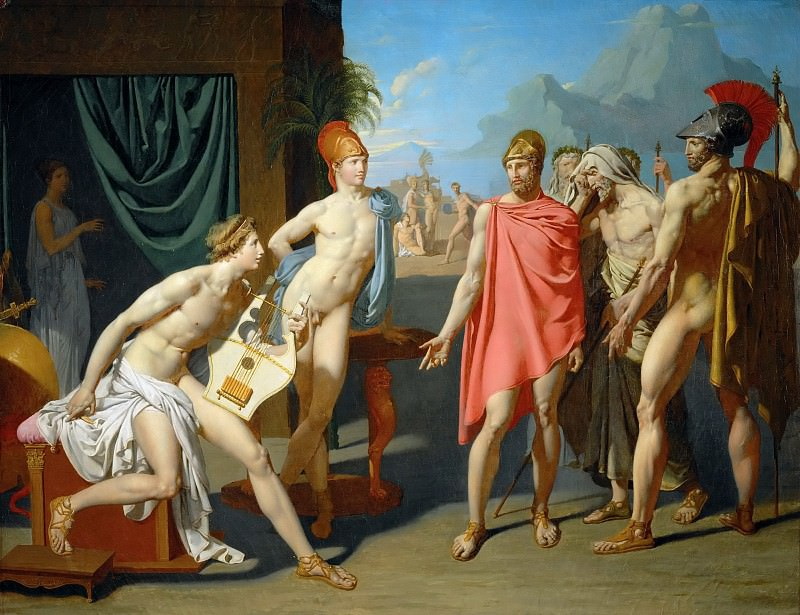 Achilles greets the ambassadors of Agamemnon. Jean Auguste Dominique Ingres