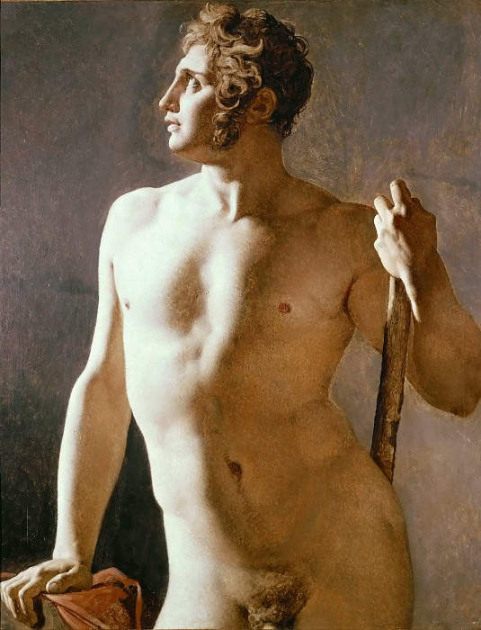 Male Torso. Jean Auguste Dominique Ingres