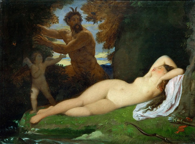 Jupiter and Antiope. Jean Auguste Dominique Ingres