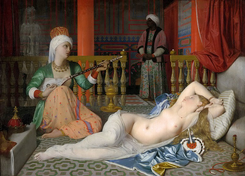 Odalisque with a slave. Jean Auguste Dominique Ingres