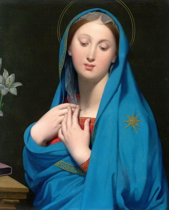 Virgin of the Adoption. Jean Auguste Dominique Ingres