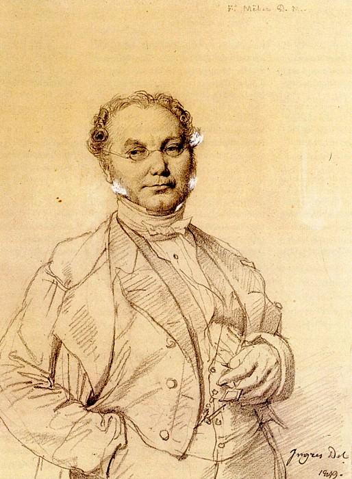 Ingres Dr. Francois Melier. Jean Auguste Dominique Ingres