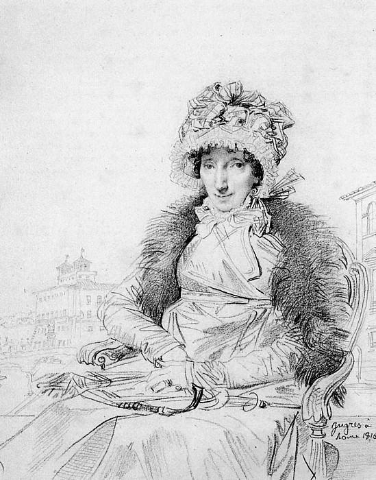 Ingres Mrs. John Mackie born Dorothea Sophia de Champs. Jean Auguste Dominique Ingres