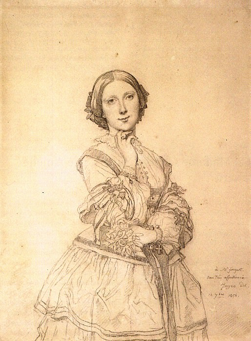 Ingres Mademoiselle Cecile Panckoucke. Jean Auguste Dominique Ingres