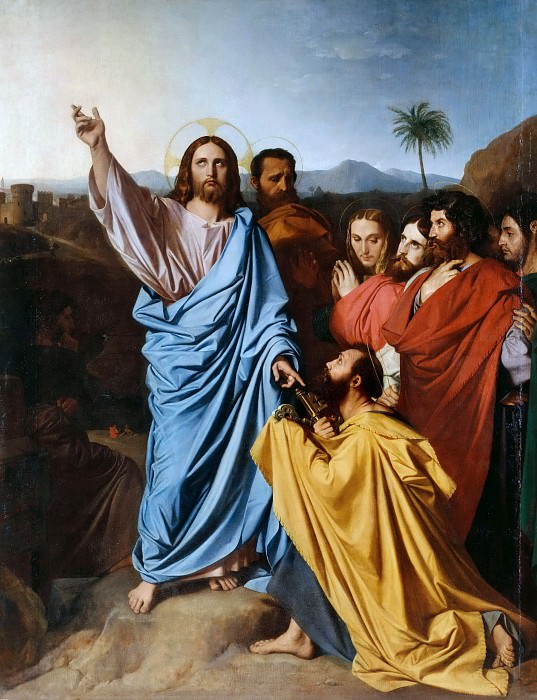 Christ Giving the Keys to Saint Peter. Jean Auguste Dominique Ingres