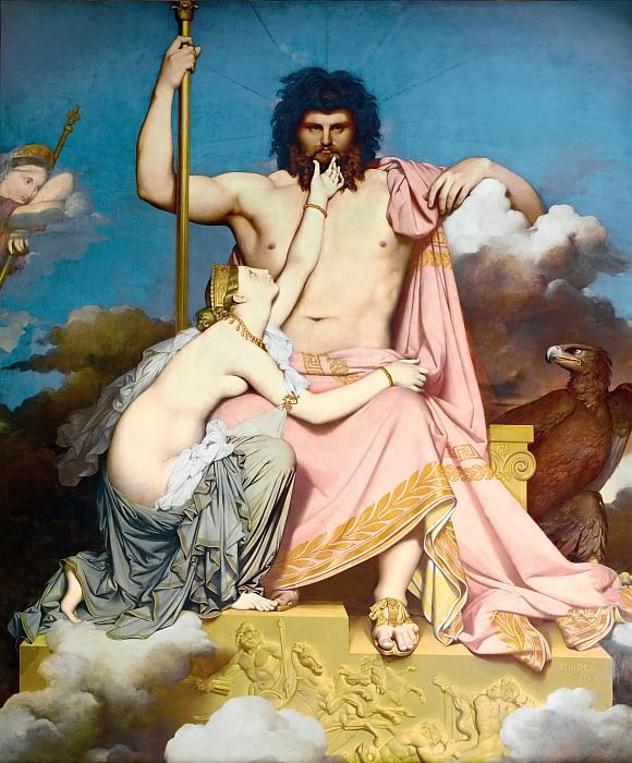 Jupiter and Thetis. Jean Auguste Dominique Ingres
