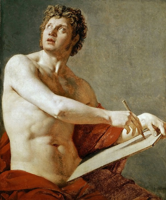 Academic Study of a Male Torso. Jean Auguste Dominique Ingres