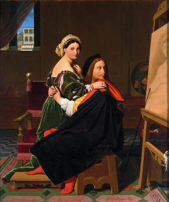 Raphael and the Fornarina. Jean Auguste Dominique Ingres