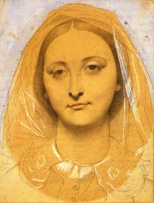 Ingres Mademoiselle Mary de Borderieux. Jean Auguste Dominique Ingres