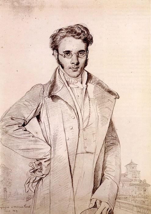 Ingres Andre Benoit Barreau called Taurel. Jean Auguste Dominique Ingres