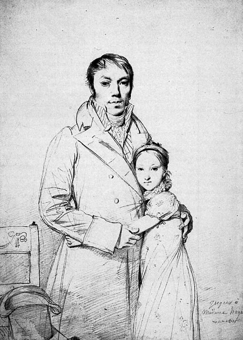 Ingres Charles Hayard and his daughter Marguerite. Jean Auguste Dominique Ingres