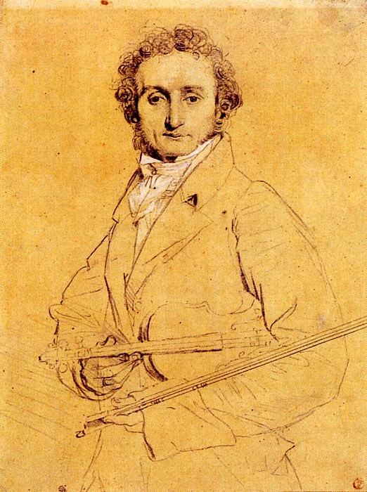 Ingres Niccolo Paganini. Jean Auguste Dominique Ingres