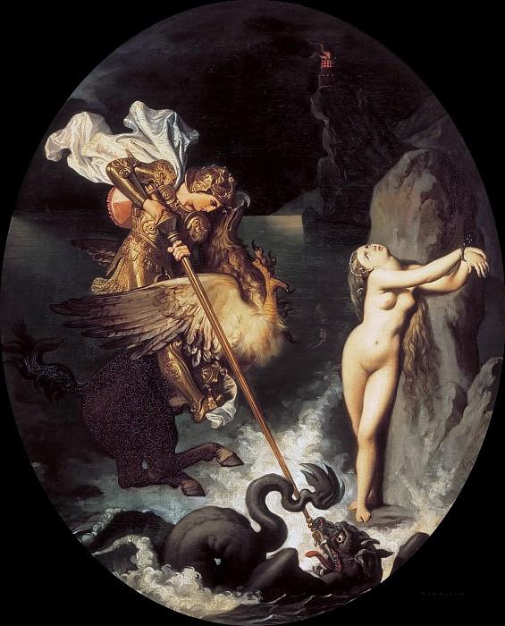 Ruggero freeing Angelica. Jean Auguste Dominique Ingres