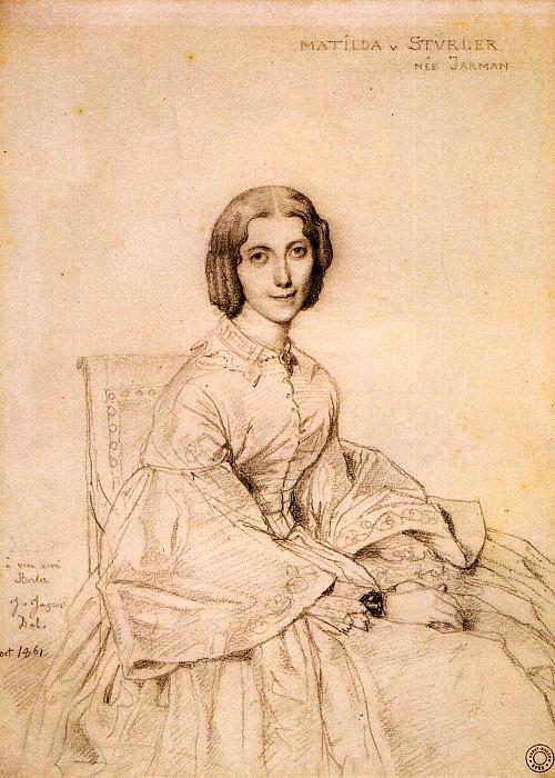 Ingres Madame Franz Adolf von Stuerler born Matilda Jarman. Jean Auguste Dominique Ingres