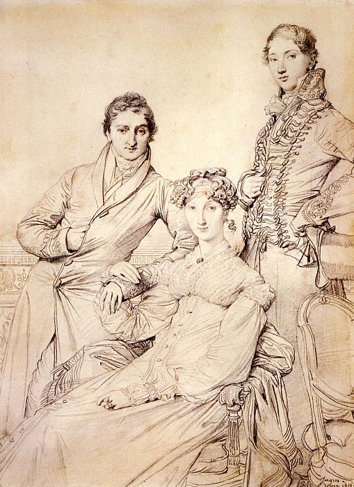 Joseph Woodhead and his wife born Harriet Comber and her Brother Henry George Wandesford. Jean Auguste Dominique Ingres