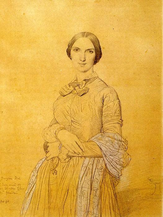 Ingres Madame Hippolyte Flandrin born Aimee Caroline Ancelot. Jean Auguste Dominique Ingres