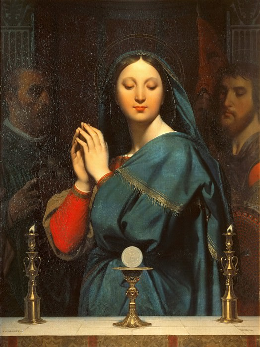 Virgin Adoring the Host. Jean Auguste Dominique Ingres