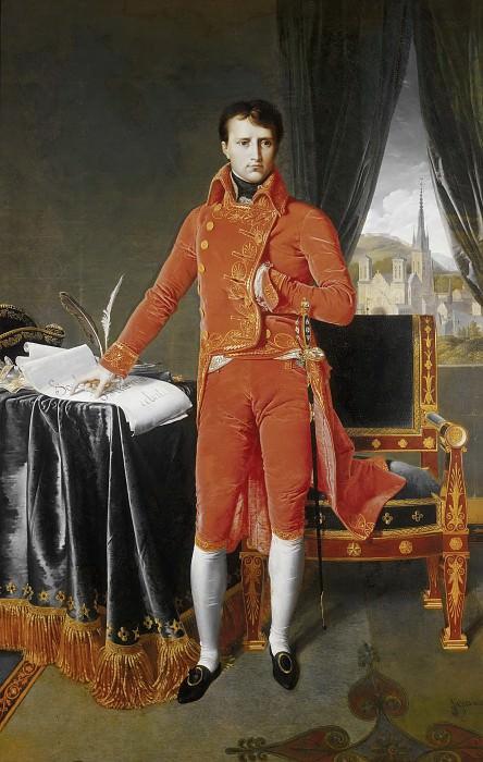 Napoleon Bonaparte in the Uniform of the First Consul. Jean Auguste Dominique Ingres