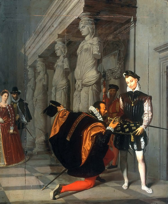 Don Pedro de Toledo kisses the sword of king Henri IV. Jean Auguste Dominique Ingres