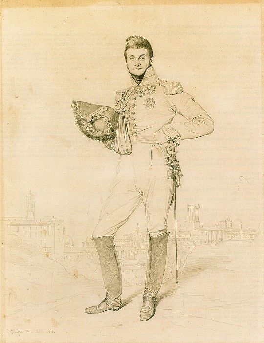 General Louis-Etienne Dulong de Rosnay. Jean Auguste Dominique Ingres