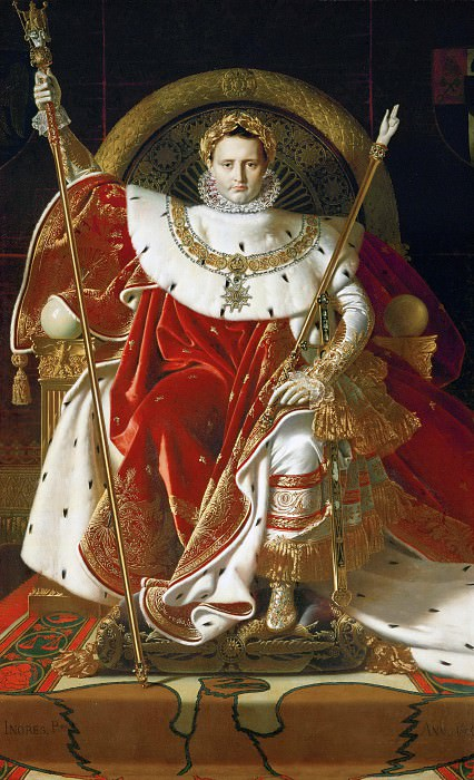 Napoleon on the Imperial Throne. Jean Auguste Dominique Ingres