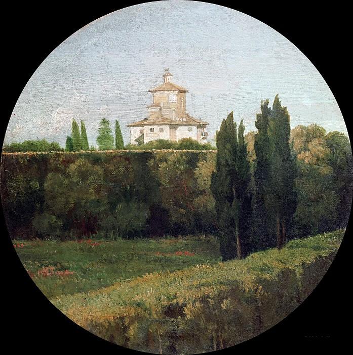 Вид на бельведер виллы Боргезе в Риме. Жан Огюст Доминик Энгр