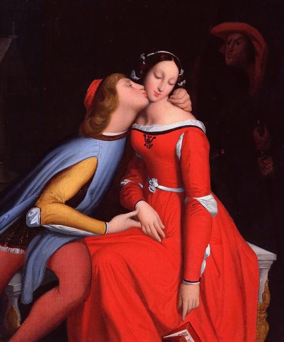 Francesca da Rimini and Paolo Malatesta. Jean Auguste Dominique Ingres