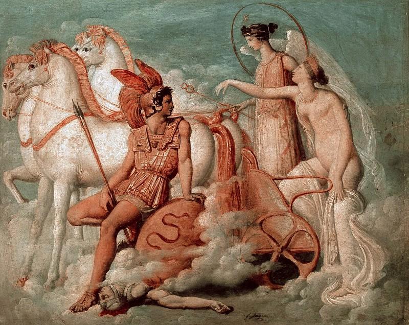 Возвращение раненной Венеры на Олимп (эскиз). Жан Огюст Доминик Энгр