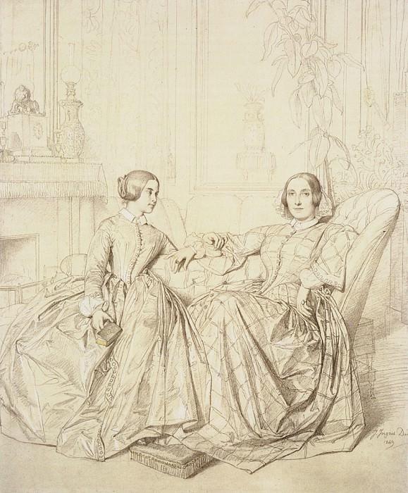 Comtesse Charles d-Agoult. Jean Auguste Dominique Ingres