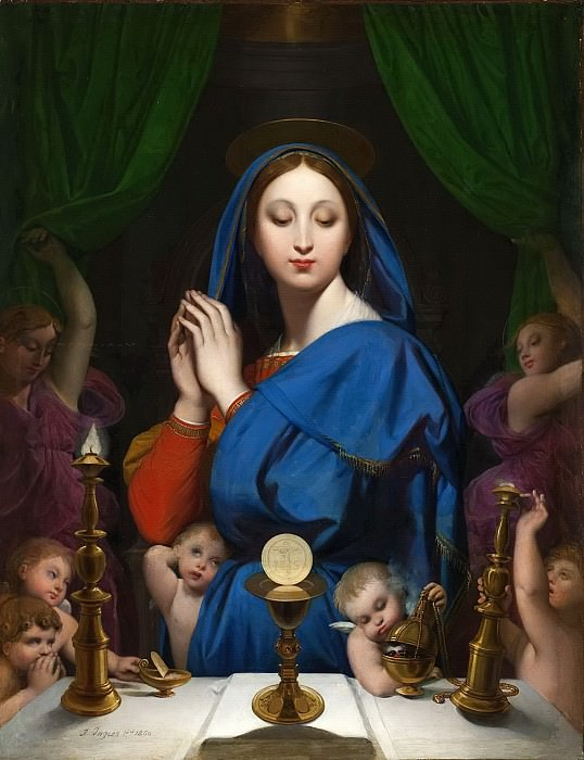 Virgin with the Host. Jean Auguste Dominique Ingres