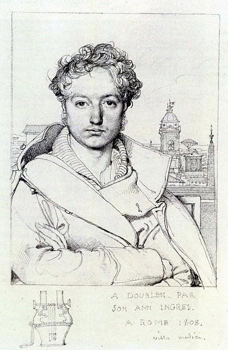 Ingres Victor Dourlen. Jean Auguste Dominique Ingres