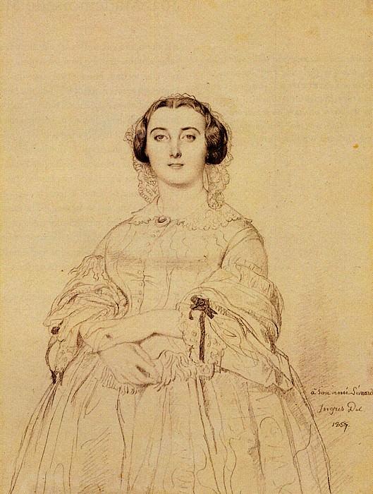 Ingres Madame Charles Simart born Amelie Baltard. Jean Auguste Dominique Ingres