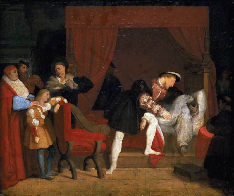 The Death of Leonardo da Vinci. Jean Auguste Dominique Ingres