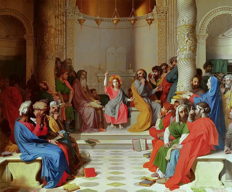 Иисус среди книжников. Жан Огюст Доминик Энгр