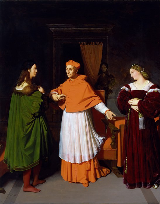 The Betrothal of Raphael and the Niece of Cardinal Bibbiena. Jean Auguste Dominique Ingres