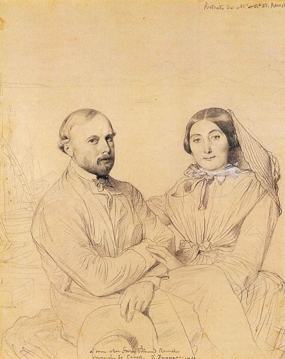 Ingres Edmond Ramel and his wife born Irma Donbernard. Jean Auguste Dominique Ingres