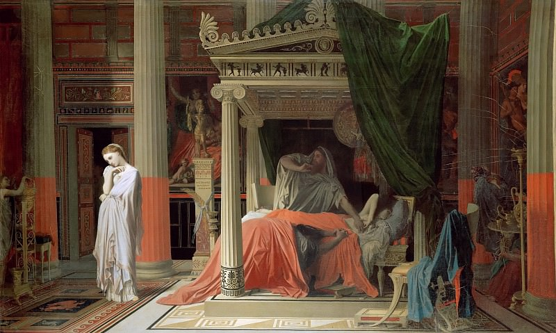 Antiochus and Stratonice. Jean Auguste Dominique Ingres