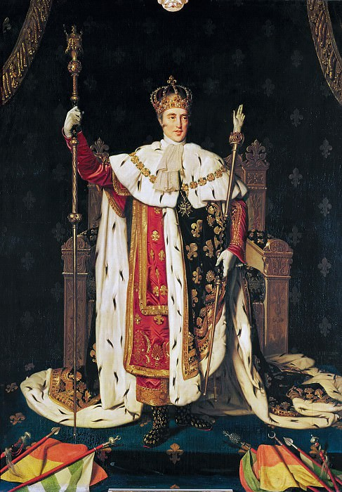 King Charles Xth in coronation robes. Jean Auguste Dominique Ingres