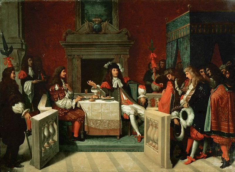 Louis XIV Dining with Moliere. Jean Auguste Dominique Ingres